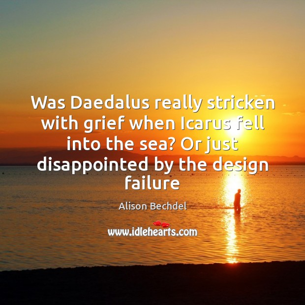 Image, Was Daedalus really stricken with grief when Icarus fell into the sea?