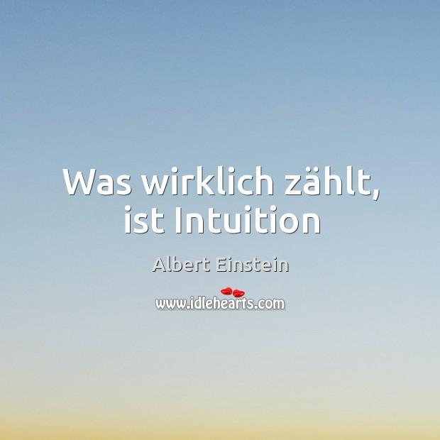 Image, Was wirklich zählt, ist Intuition
