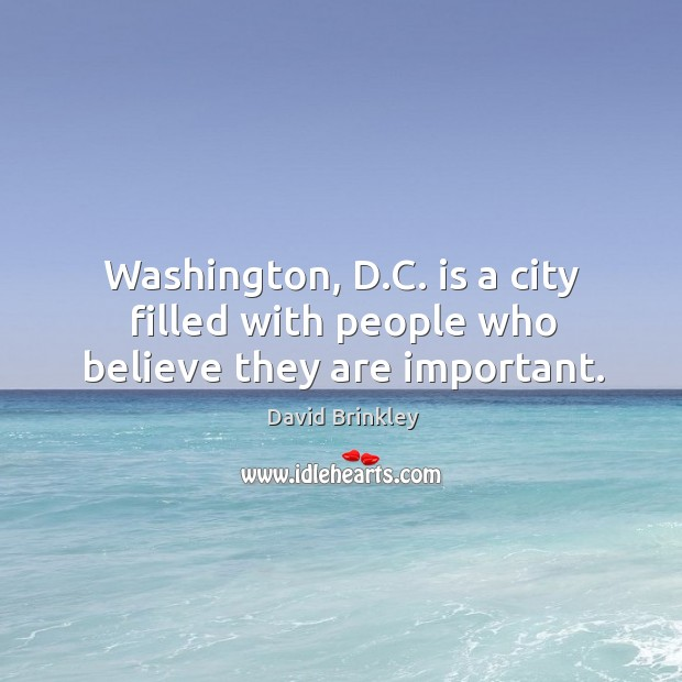 Washington, d.c. Is a city filled with people who believe they are important. Image