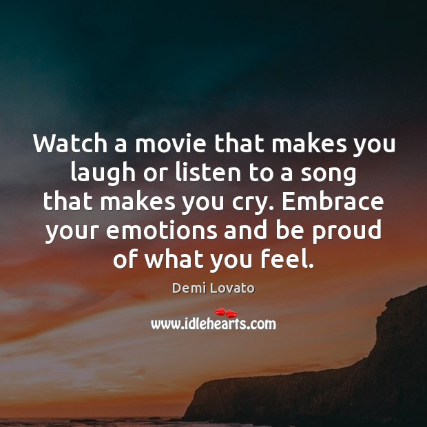 Image, Watch a movie that makes you laugh or listen to a song