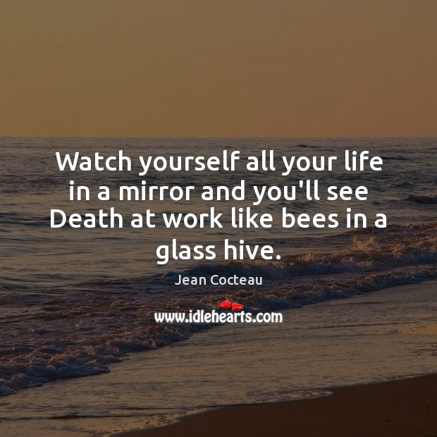 Watch yourself all your life in a mirror and you'll see Death Image