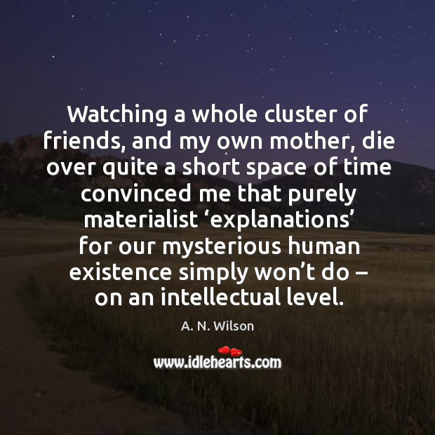 Image, Watching a whole cluster of friends, and my own mother