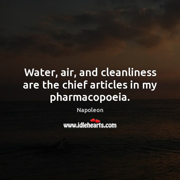 Water, air, and cleanliness are the chief articles in my pharmacopoeia. Get Well Soon Messages Image