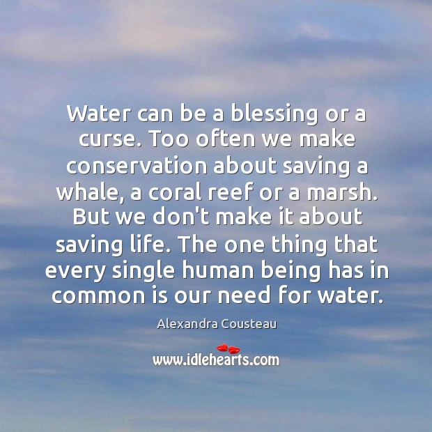 Water can be a blessing or a curse. Too often we make Image