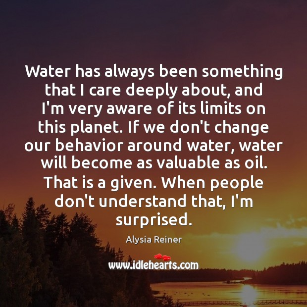 Water has always been something that I care deeply about, and I'm Image
