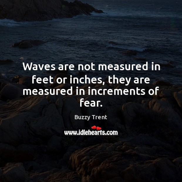 Image, Waves are not measured in feet or inches, they are measured in increments of fear.