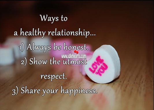 Image, Ways to a healthy relationship