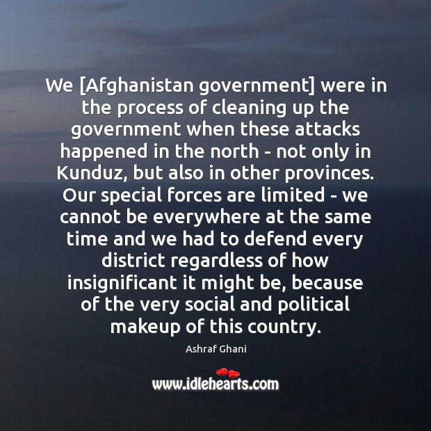 Image, We [Afghanistan government] were in the process of cleaning up the government