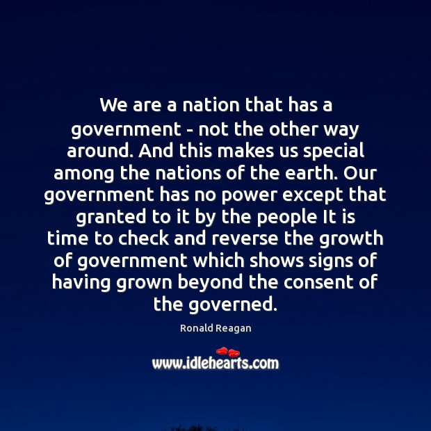 Image, We are a nation that has a government – not the other
