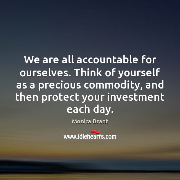 accountability of yourself