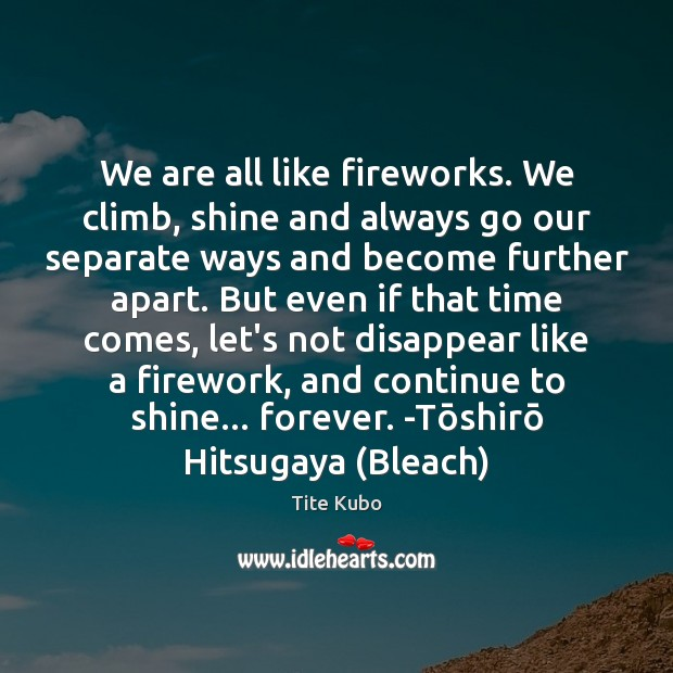 Image, We are all like fireworks. We climb, shine and always go our