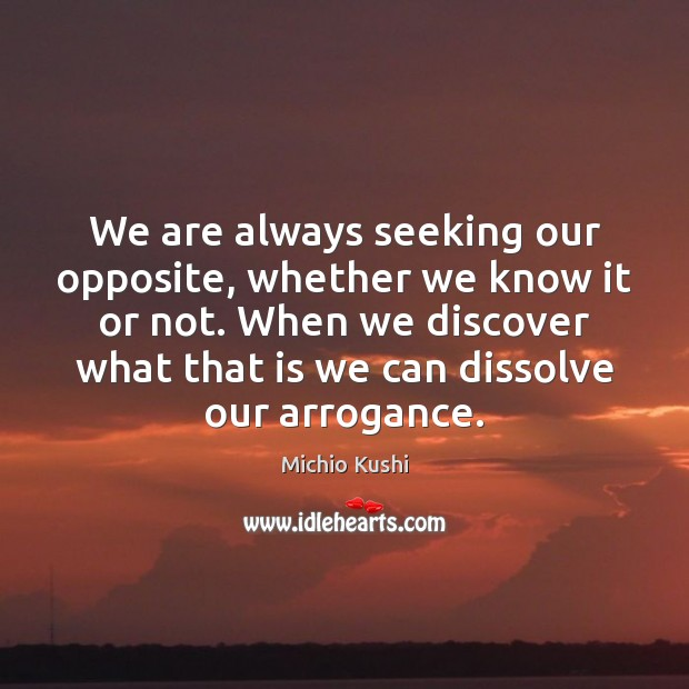 Image, We are always seeking our opposite, whether we know it or not.
