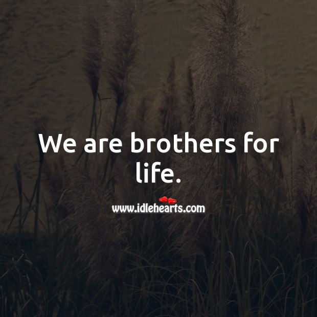 We are brothers for life. Brother Quotes Image