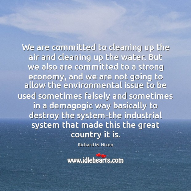 We are committed to cleaning up the air and cleaning up the Image