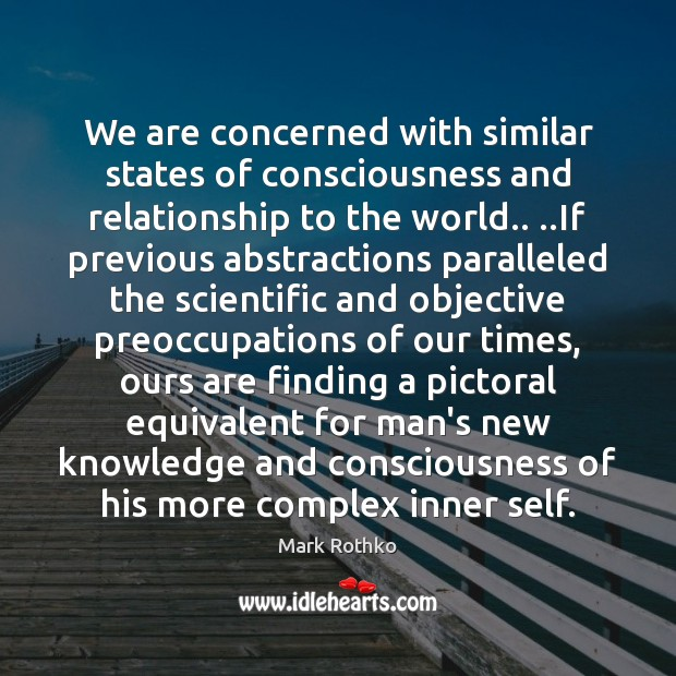 Image, We are concerned with similar states of consciousness and relationship to the