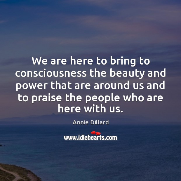 We are here to bring to consciousness the beauty and power that Image
