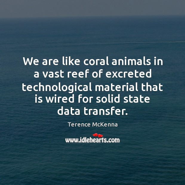 We are like coral animals in a vast reef of excreted technological Image