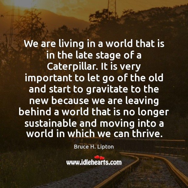 We are living in a world that is in the late stage Bruce H. Lipton Picture Quote