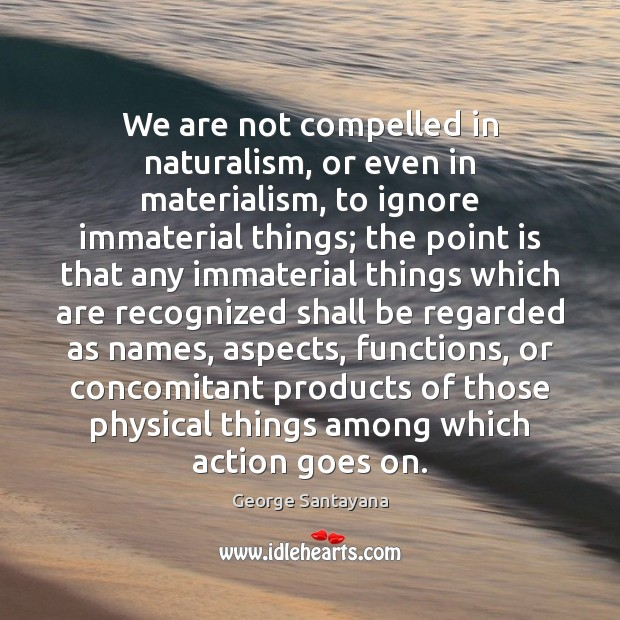 We are not compelled in naturalism, or even in materialism, to ignore Image