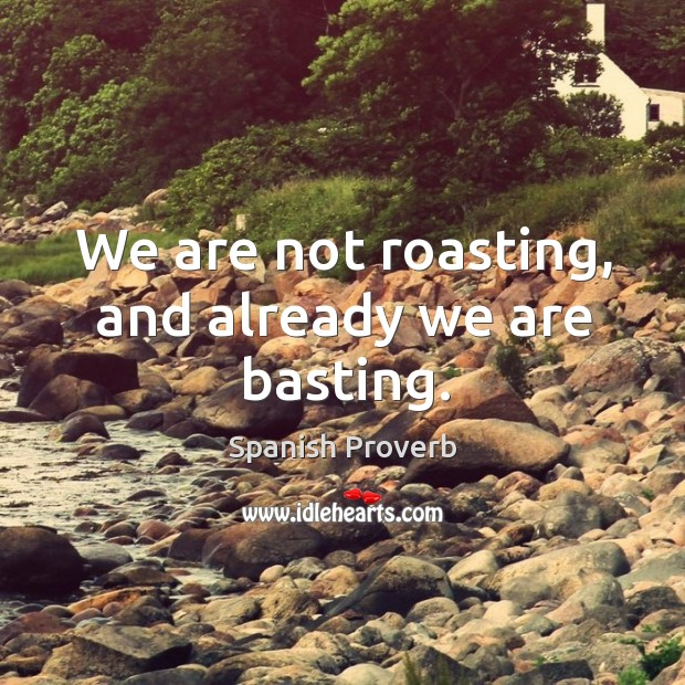 Image, We are not roasting, and already we are basting.