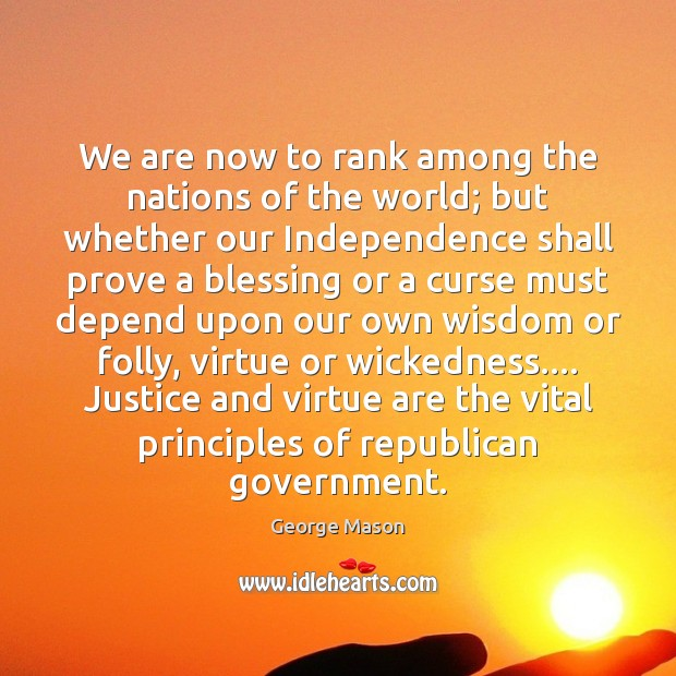 We are now to rank among the nations of the world; but Image