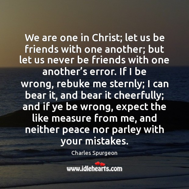 Image, We are one in Christ; let us be friends with one another;