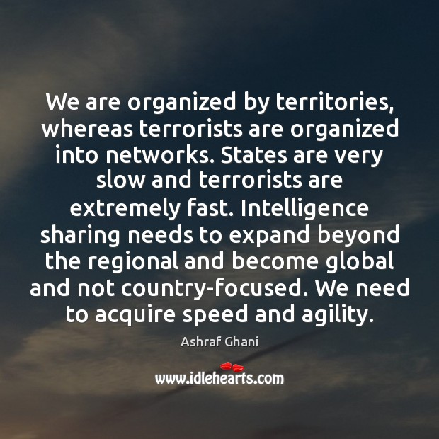Image, We are organized by territories, whereas terrorists are organized into networks. States