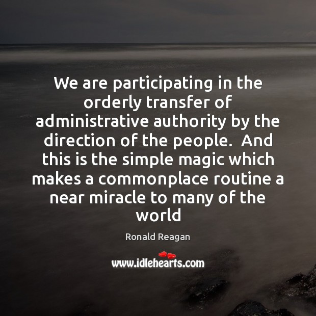 Image, We are participating in the orderly transfer of administrative authority by the
