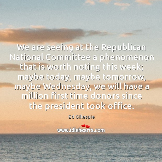 We are seeing at the republican national committee a phenomenon that is worth noting Image