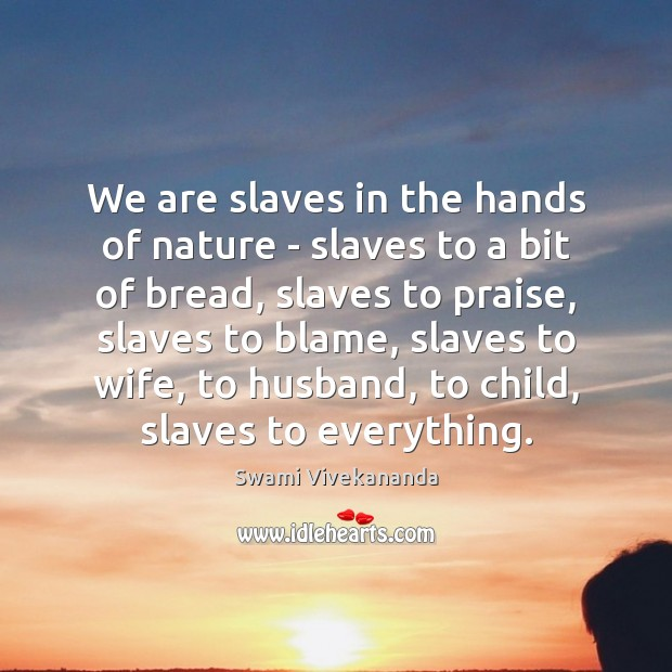 Image, We are slaves in the hands of nature – slaves to a