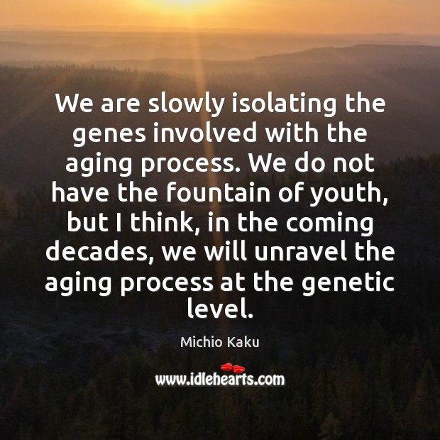 Image, We are slowly isolating the genes involved with the aging process. We