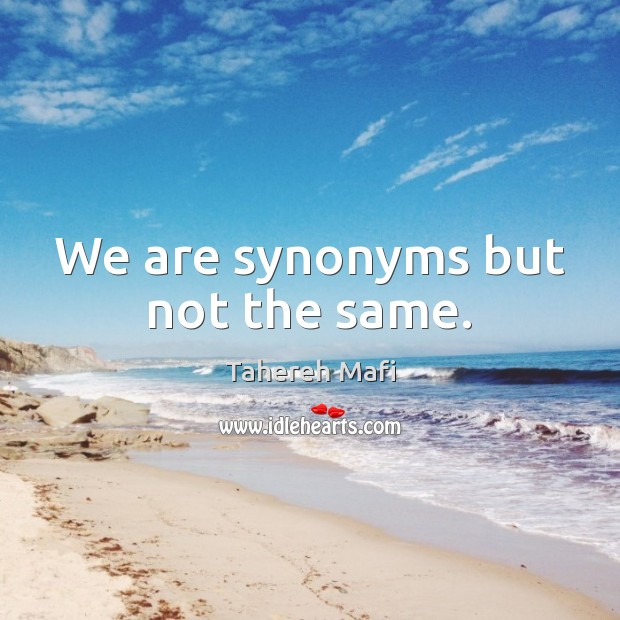 Image, We are synonyms but not the same.