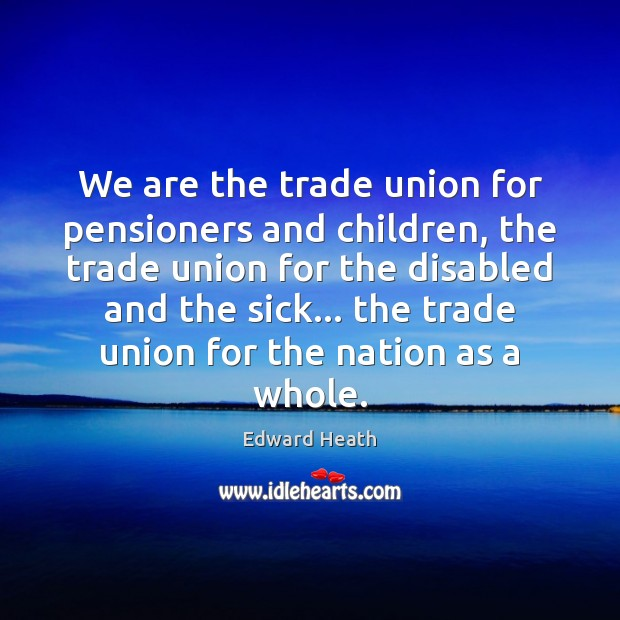 Image, We are the trade union for pensioners and children, the trade union