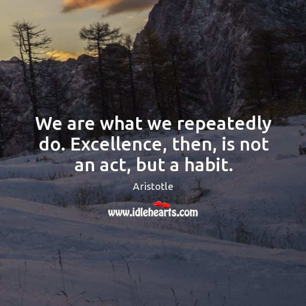Image, We are what we repeatedly do.