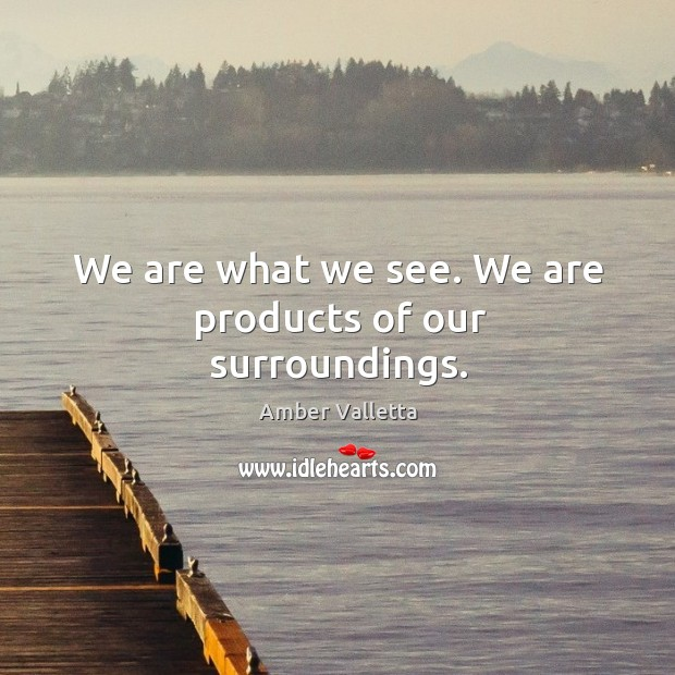 We are what we see. We are products of our surroundings. Image