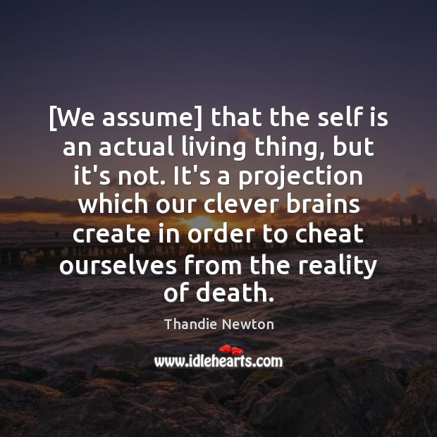 [We assume] that the self is an actual living thing, but it's Image