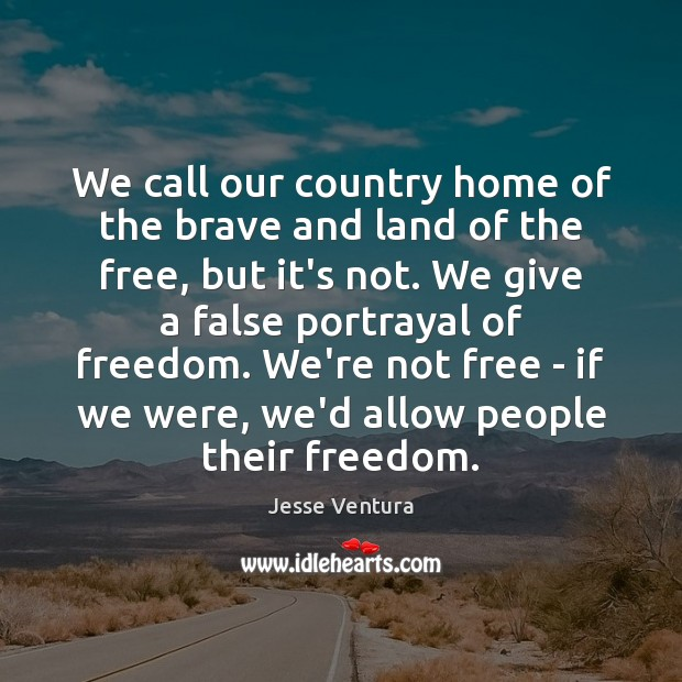 We call our country home of the brave and land of the Image