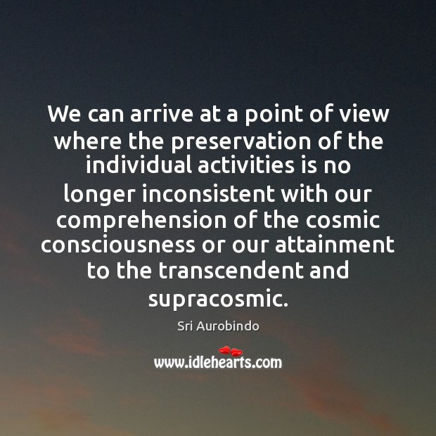 We can arrive at a point of view where the preservation of Image