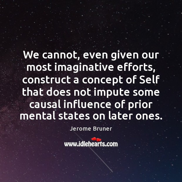 We cannot, even given our most imaginative efforts, construct a concept of Image