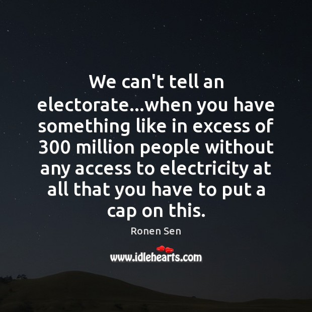 We can't tell an electorate…when you have something like in excess Image