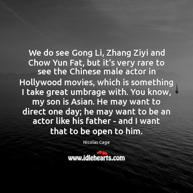 We do see Gong Li, Zhang Ziyi and Chow Yun Fat, but Son Quotes Image