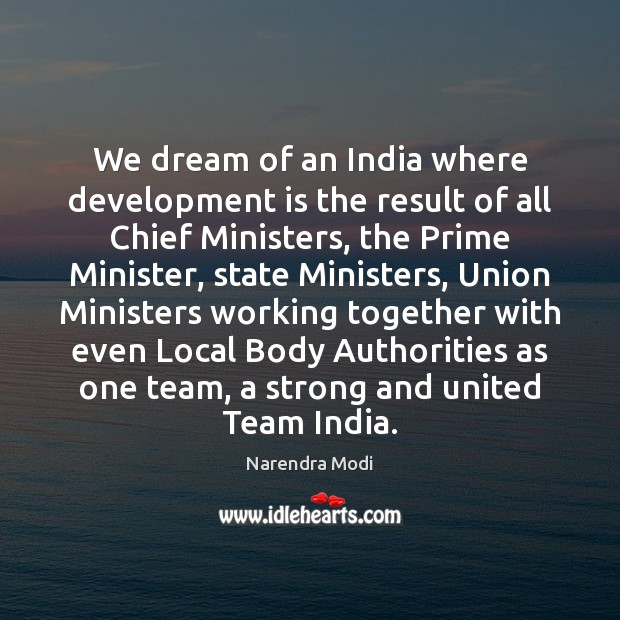 Image, We dream of an India where development is the result of all