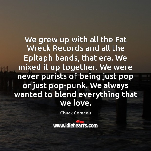 Image, We grew up with all the Fat Wreck Records and all the