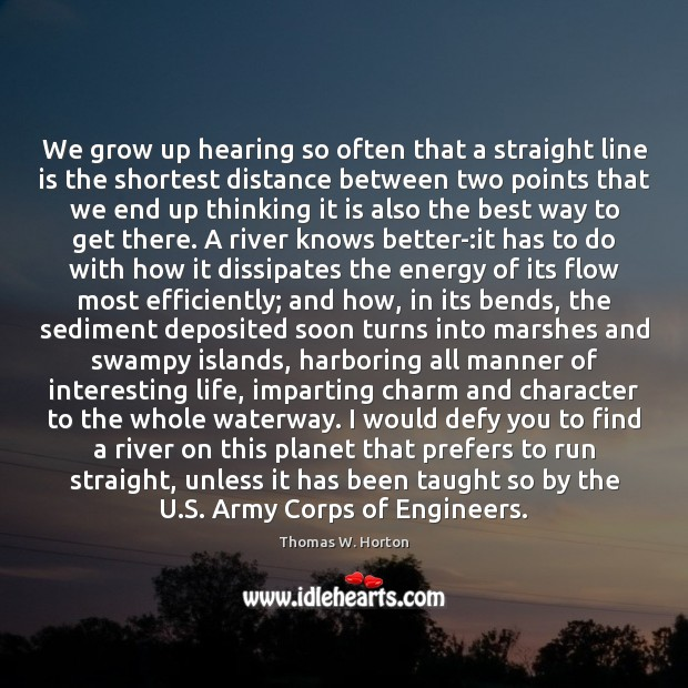 We grow up hearing so often that a straight line is the Image