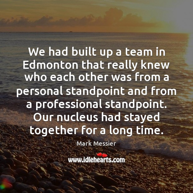 We had built up a team in Edmonton that really knew who Image