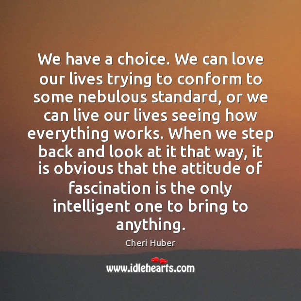 Image, We have a choice. We can love our lives trying to conform