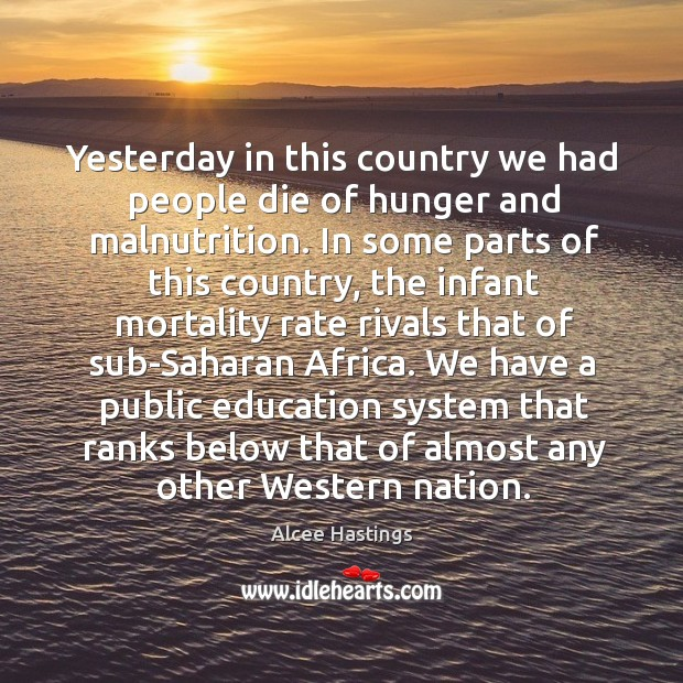 We have a public education system that ranks below that of almost any other western nation. Image
