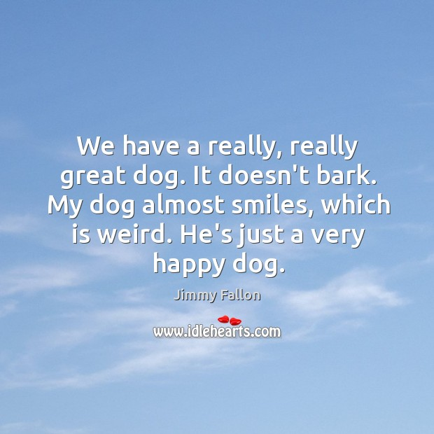 We have a really, really great dog. It doesn't bark. My dog Image