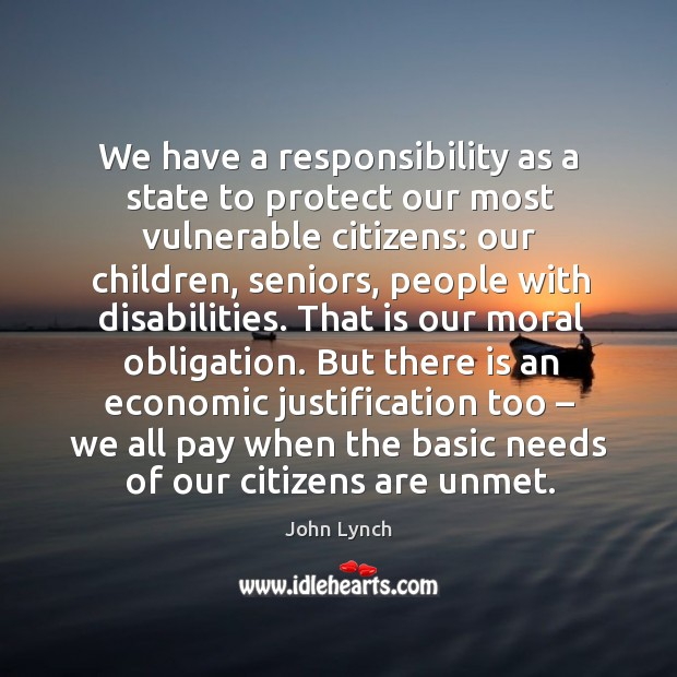 We have a responsibility as a state to protect our most vulnerable citizens: Image