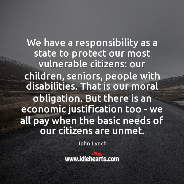 We have a responsibility as a state to protect our most vulnerable Image
